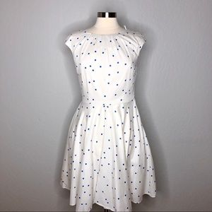 Boden Flower Show Polka Dot Dress 8 R